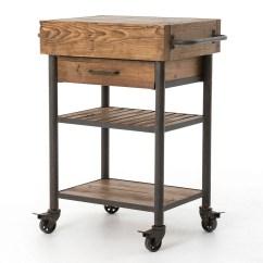 Kitchen Rolling Cart Aid Artisan Sale Industrial Reclaimed Wood Island Zin Home