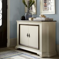 Sonoma Vintage White Hall Console Cabinet 54"