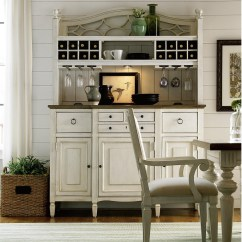 Kitchen Server Planner Software Country Chic Maple Wood White Buffet With Bar Hutch