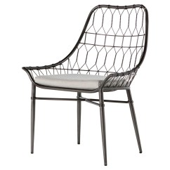 Outdoor Dining Chairs Sale Best For Back Pain Arman Metal Rattan Scooped Chair Zin Home