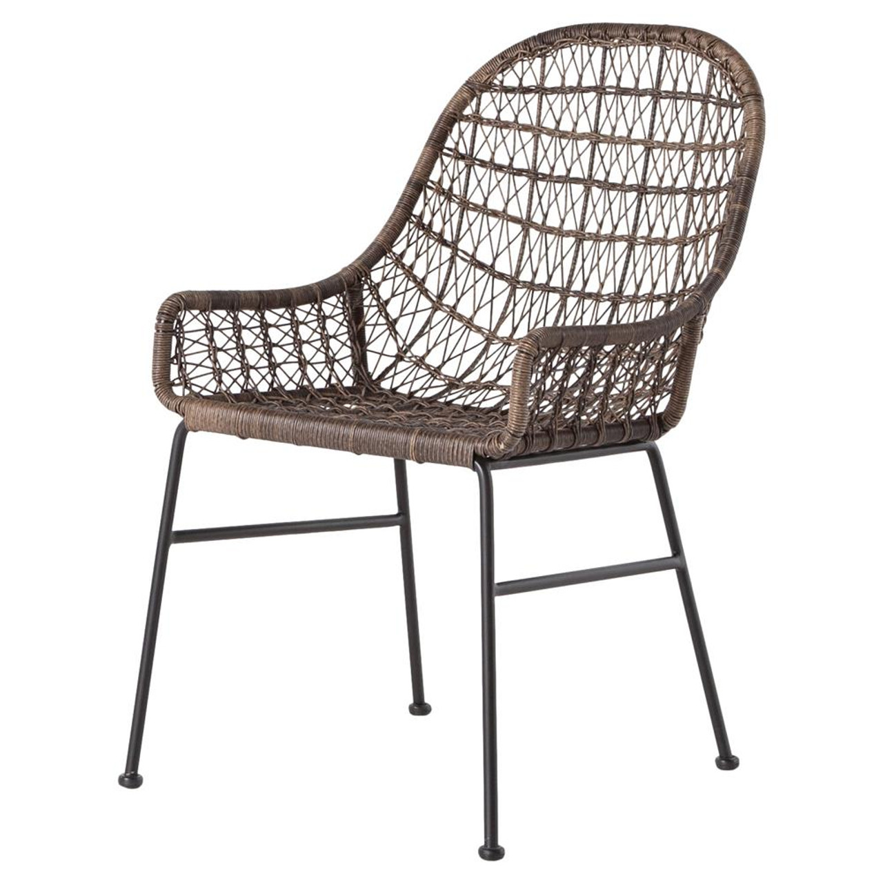 Wicker Outdoor Dining Chairs Bandera Woven Wicker Outdoor Low Arm Dining Chair