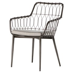Outdoor Dining Chairs Sale Gothic For Kade Iron Rattan Zin Home