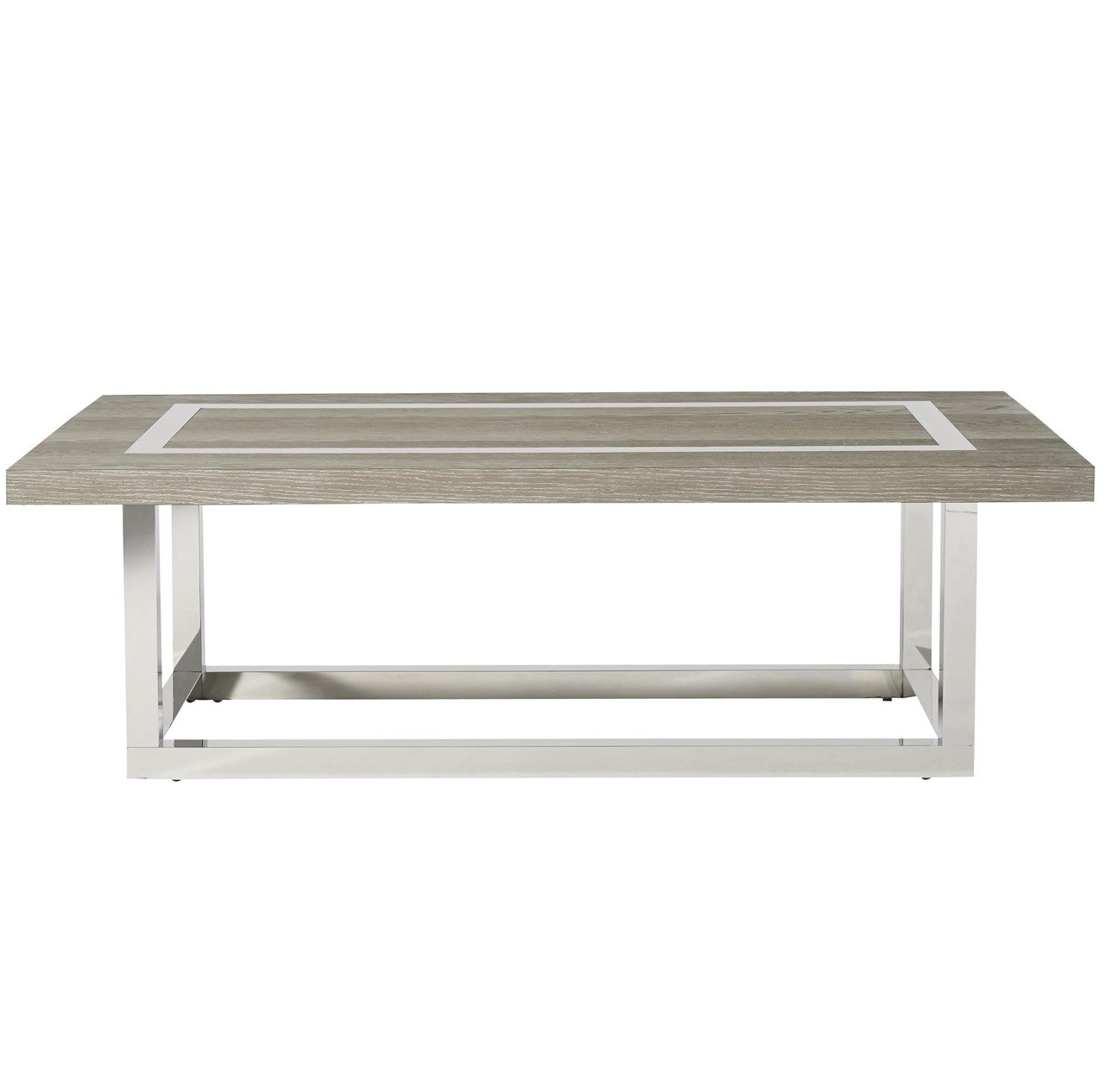 wyatt modern oak wood stainless steel cocktail table