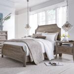 Amelie Solid Wood California King Bed Frame Vintage Taupe Zin Home