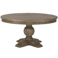 French Urn Solid Wood Pedestal Round Dining Table 48 ...
