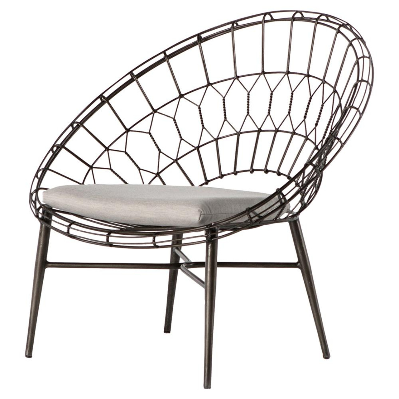 White Outdoor Lounge Chair Marquis Metal Wicker Sunburst Outdoor Lounge Chair