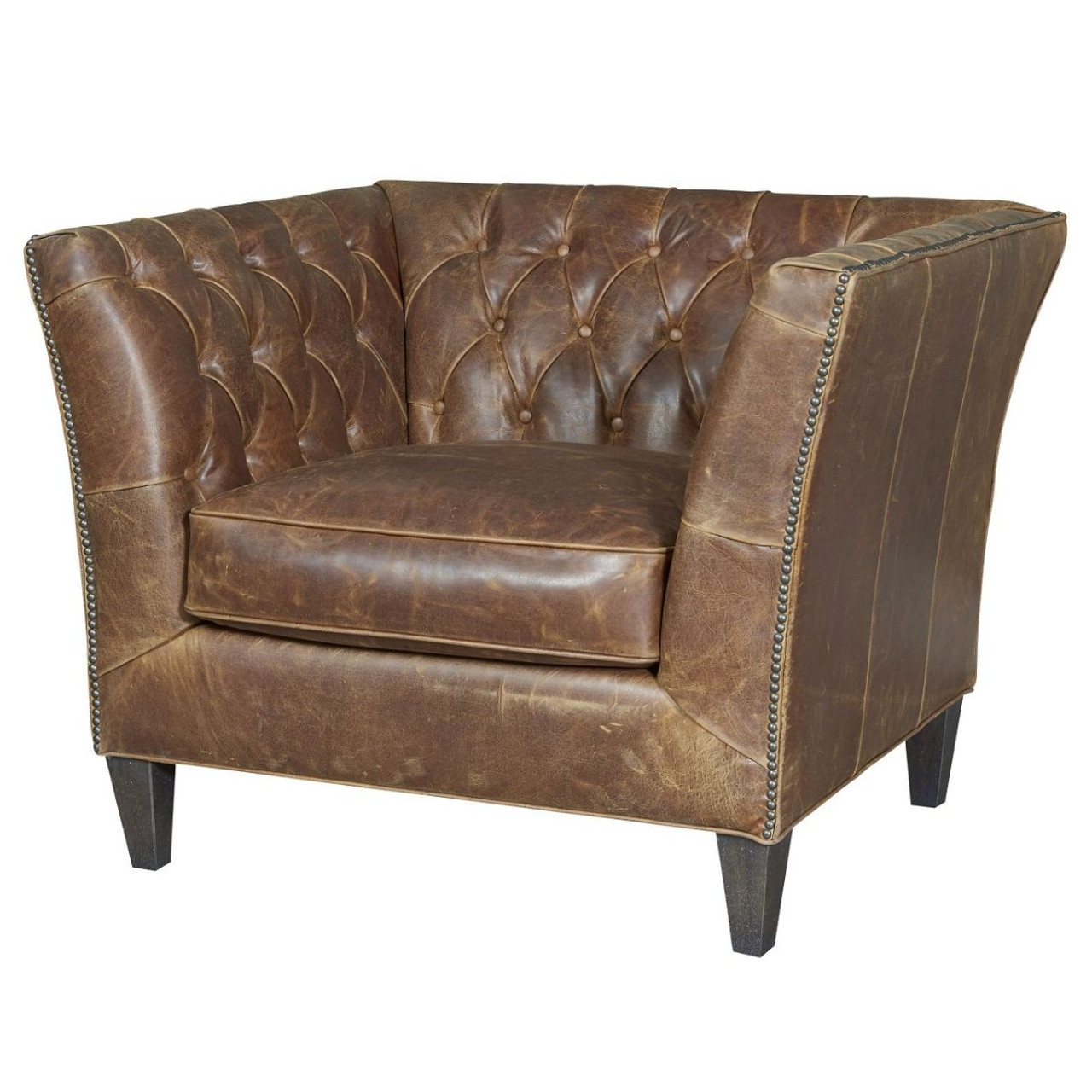 leather accent chairs hover round chair duncan tufted chestnut zin home