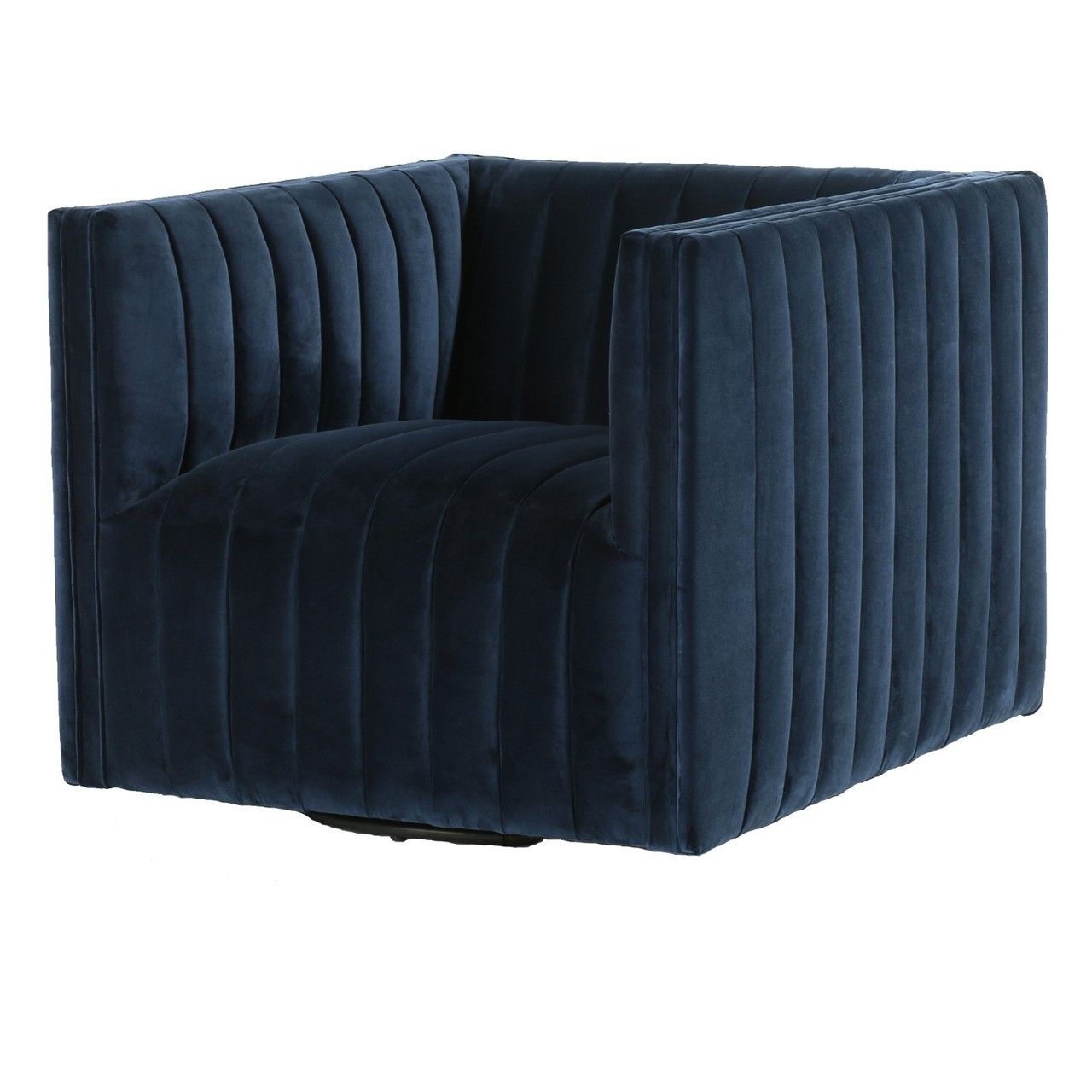 swivel chair definition revolving specification augustine channel tufted navy velvet zin home fourhands