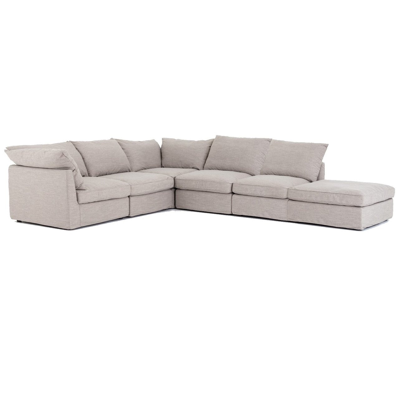 6 piece modular sectional sofa brown leather room decorating ideas paul coastal grey 148 zin home fourhands