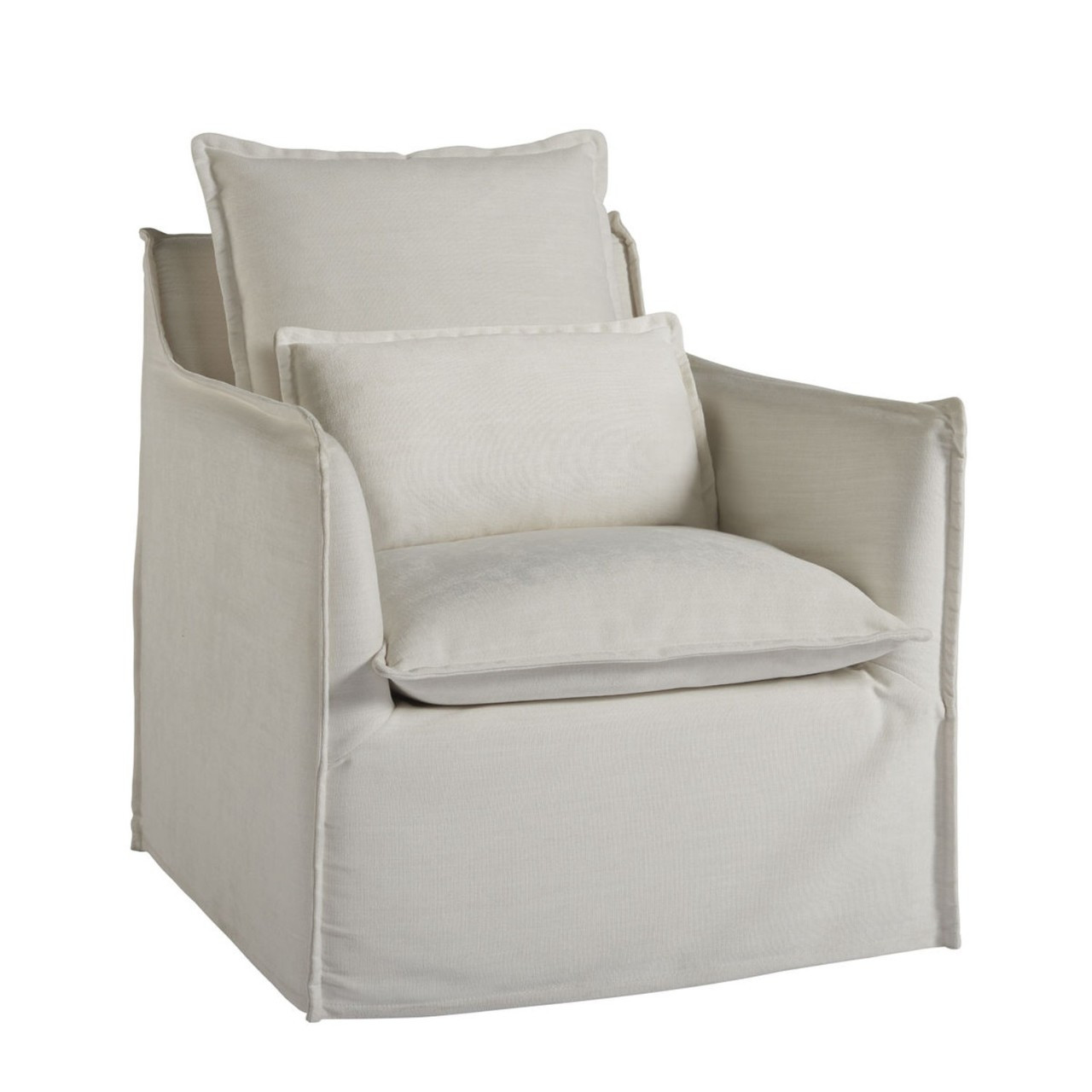 Upholstered Swivel Chairs Coastal Living Siesta Key Slipcovered Swivel Chair
