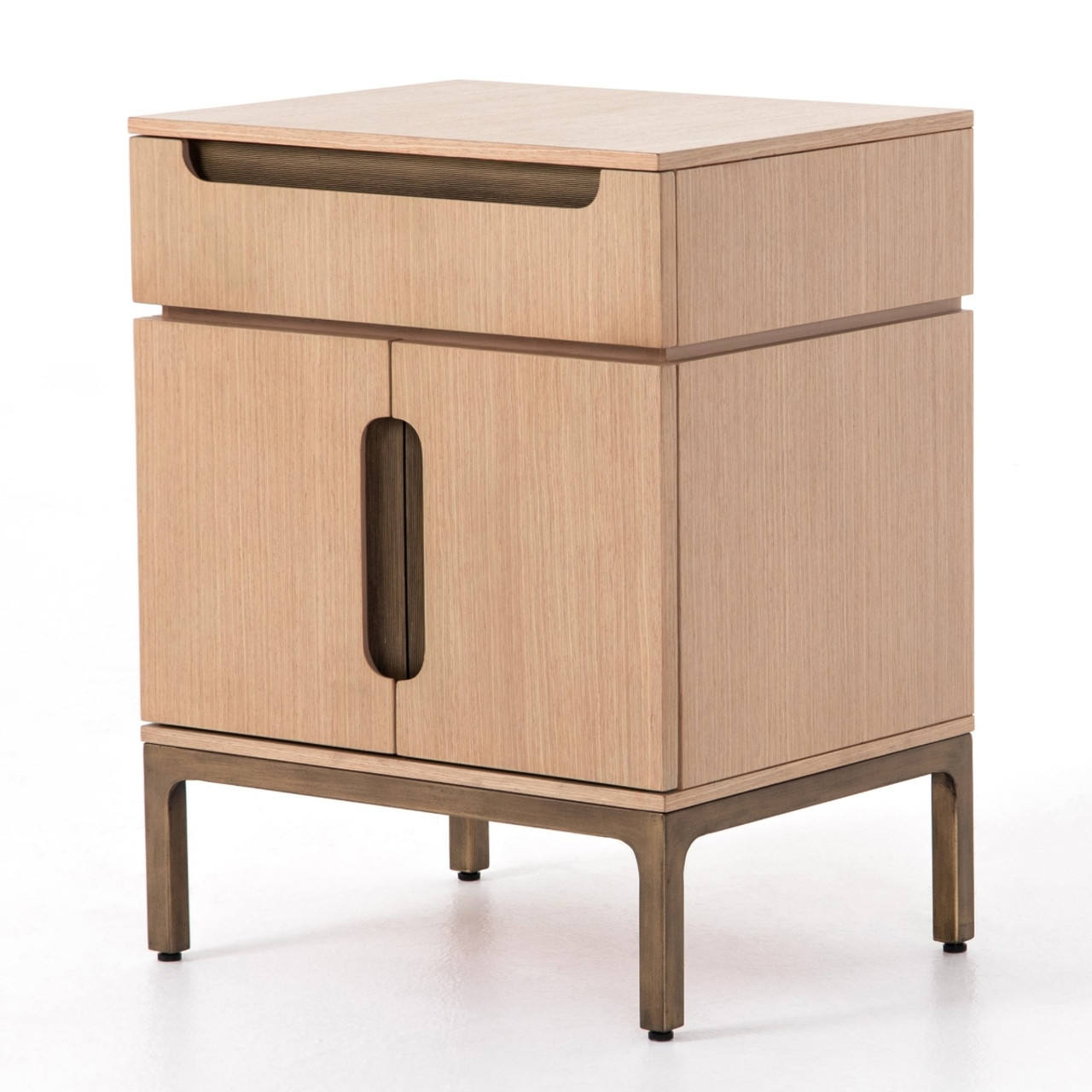 Nimbus Modern Smoked Oak Nightstand