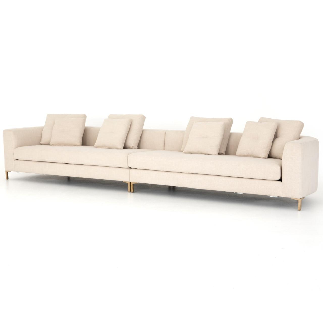 greer ivory 2 piece modular large sofa 168