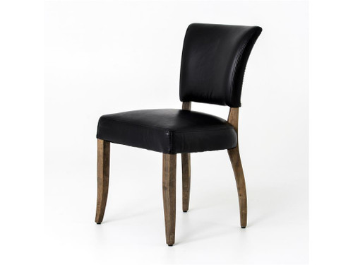 leather dining room chairs revolving chair manufacturing process mimi saddle black zin home