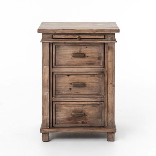 sierra reclaimed wood bedside cabinet