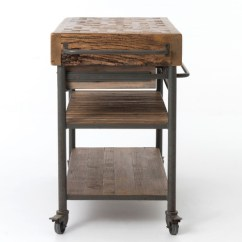 Kitchen Island Carts Solid Color Rugs Industrial Reclaimed Wood Cart On Wheels Zin Home And Islands