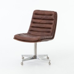Distressed Leather Desk Chair Mid Century Malibu Whiskey Office Zin Home Ccar 019 Antique