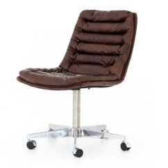 Distressed Leather Desk Chair Boone High Malibu Whiskey Office Zin Home
