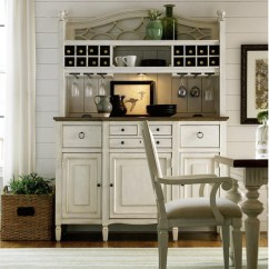 White Kitchen Buffet Wall Mount Light Fixtures Country Chic Maple Wood With Bar Hutch Zin Home