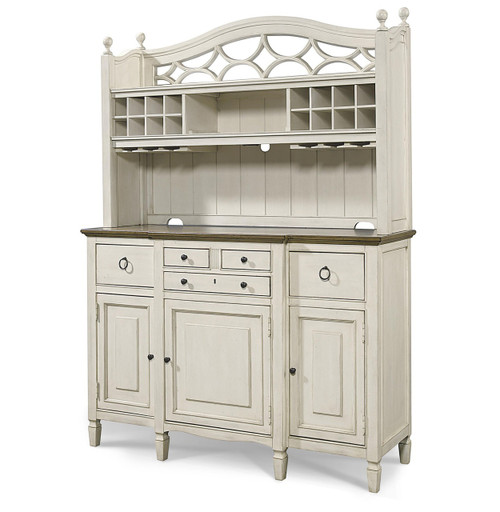 white kitchen buffet counter options country chic maple wood with bar hutch zin home and