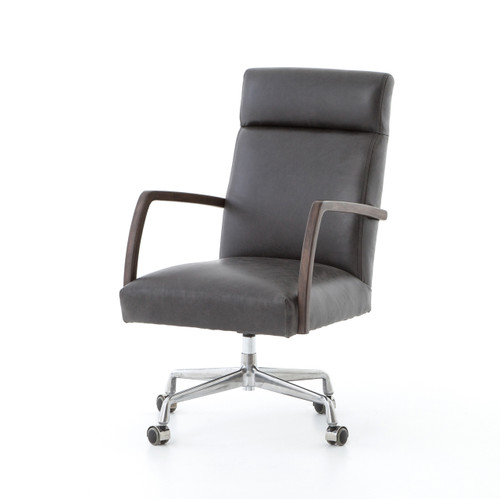office chair customer reviews bedroom green gold and black vegan leather m348 modern chairs zin home bryson oak desk
