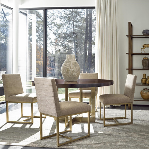 gold dining chairs swivel chair singapore gibson modern fabric brushed zin home frame
