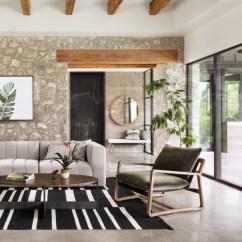 Living Room Arm Chair Design Dark Wood Floors Ava Olive Green Fabric Oak Zin Home Ace Accent