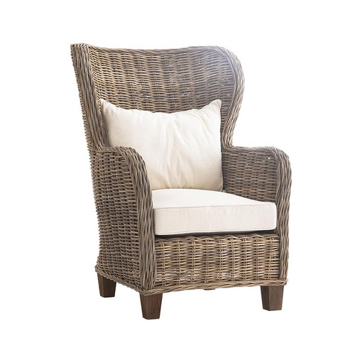 wicker wingback chairs desk chair casters garry coastal rattan accent zin home