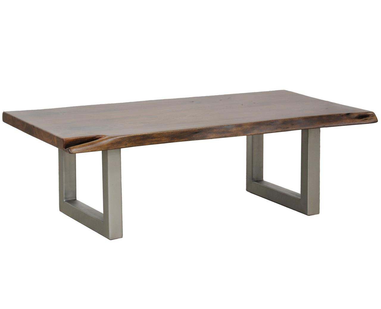 montana solid wood metal leg coffee table