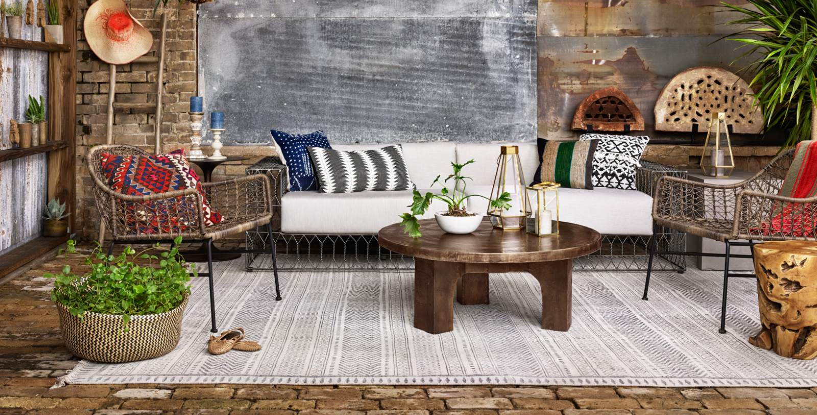 living room on sale modern divider zin home eclectic industrial style furniture holiday