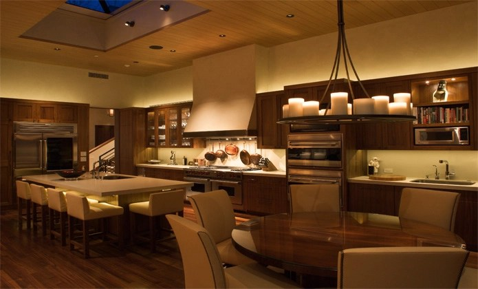 above cabinet lighting with leds over