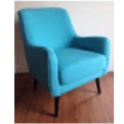 Single Sofa Chair 4 Foot Living Room Sofas Lounges Suites Fabric Edward Gk16026 Seater Blue