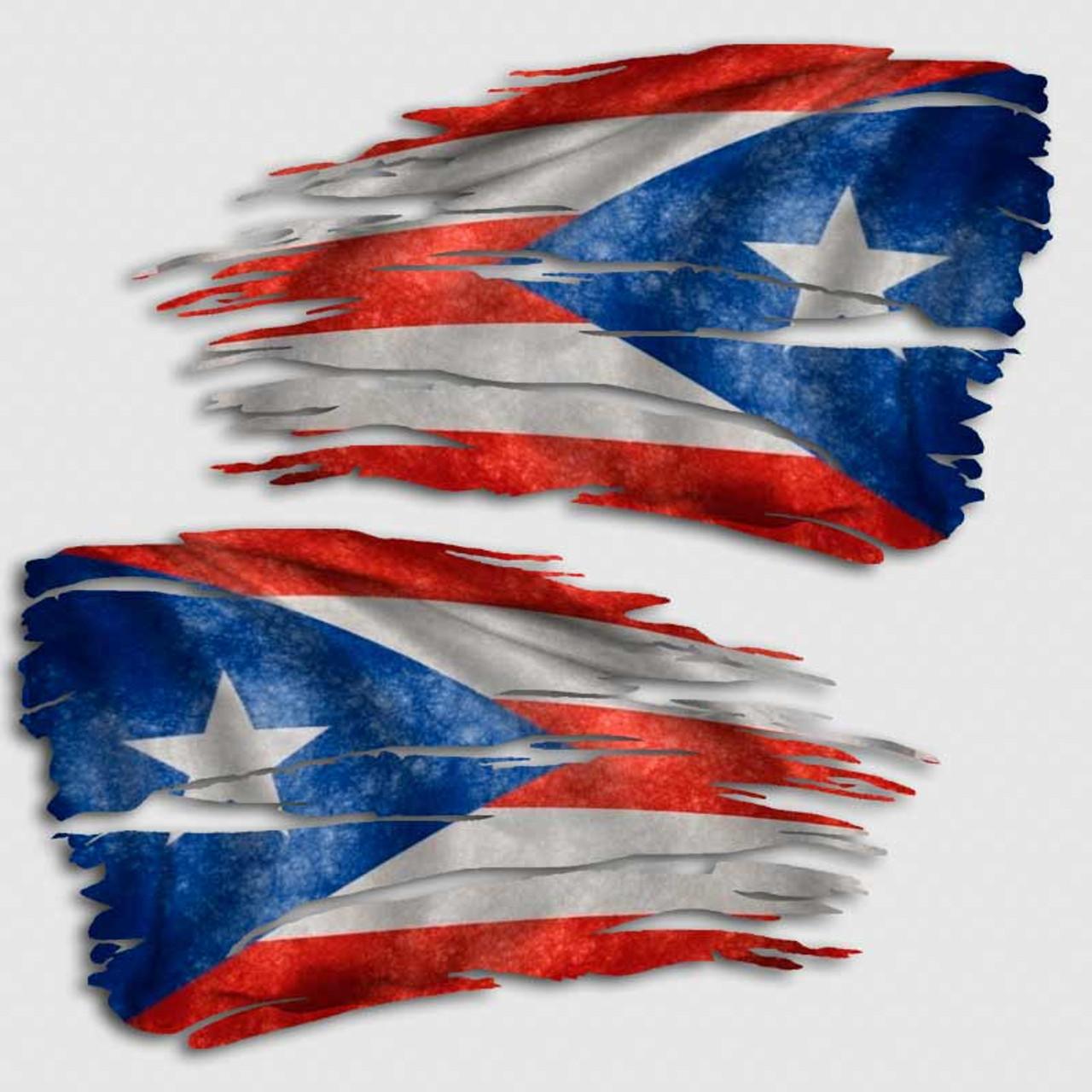 tattered puerto rico flag