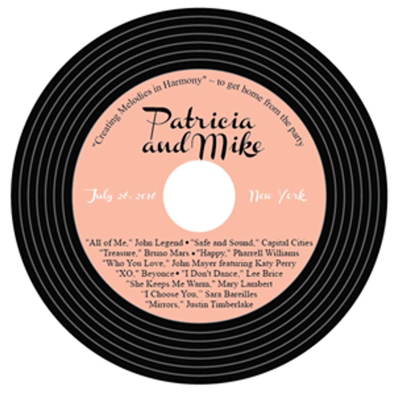 personalized vintage record vinyl