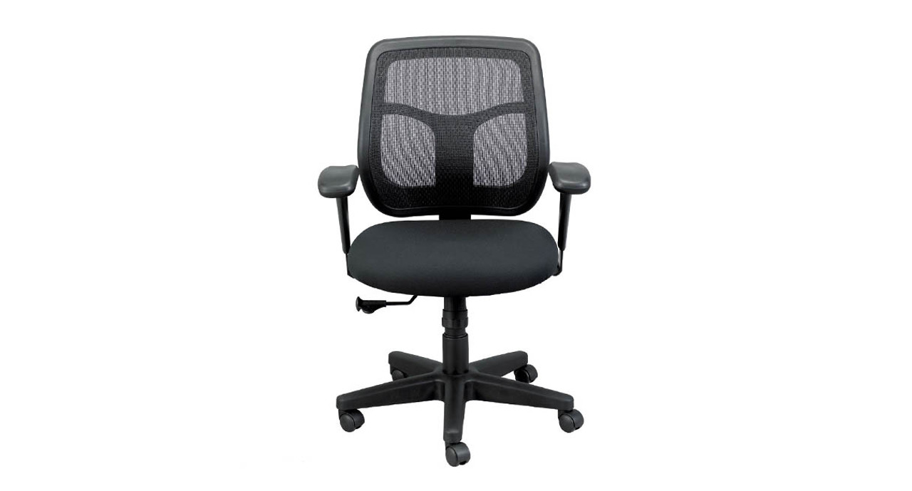 mesh back chairs for office kids camp chair eurotech apollo mt9400 shop at human solution the s synchro tilt allows and seat