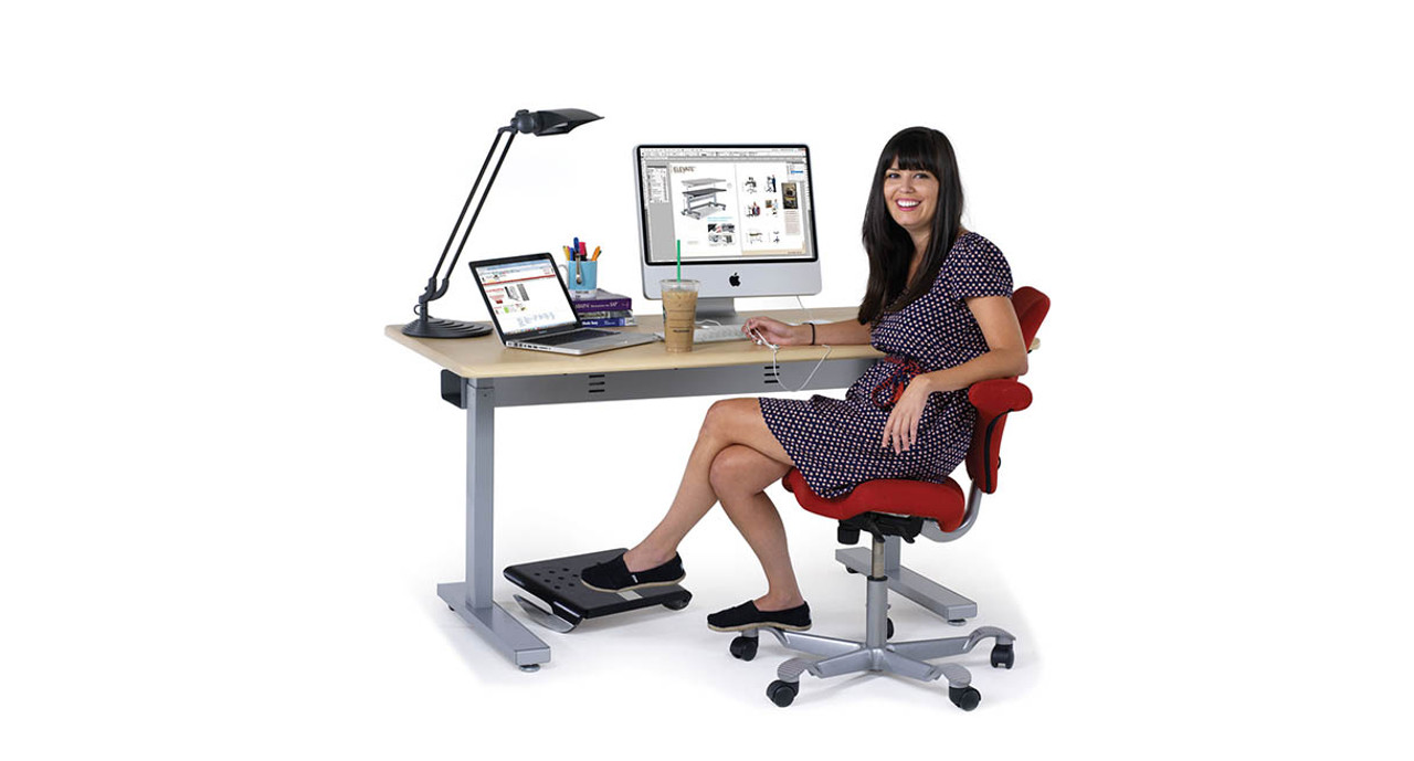 sit to stand chair lift plastic stacking chairs shop anthro elevate ii plus electric tables worksurface available in two widths and color options