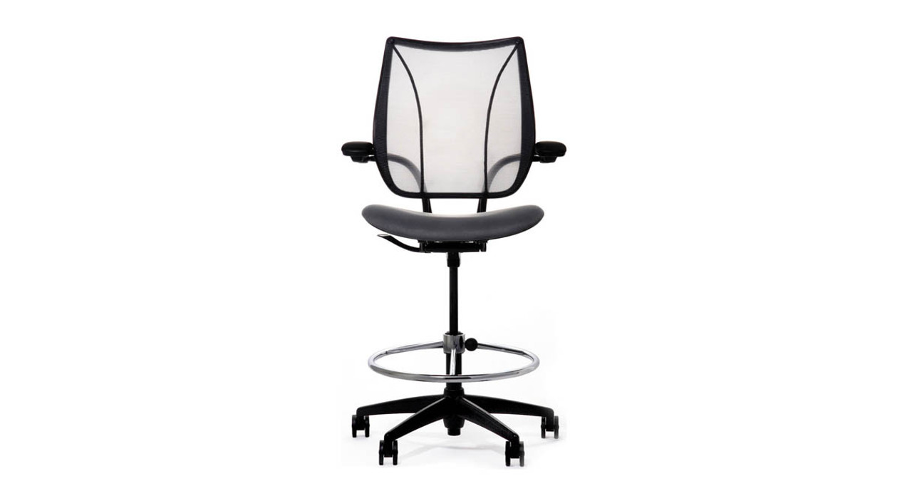 drafting office chair wrestling chairs for sale humanscale liberty shop stools features all of the adjustments and customized support at table height