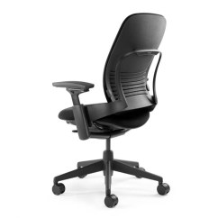 Steelcase Gesture Chair Recliner Lift Covers Leap Open Box Clearance Intuitive Dial On The Left Side Of Allows You To Adjust Upper Back Force