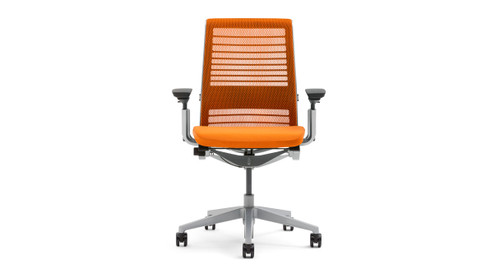 ergonomic chair grainger cheap racing petite office chairs shop the steelcase think is smart seating in a pretty package