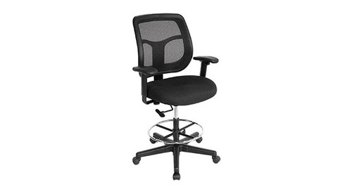 best drafting chair x rocker gaming parts ergonomic chairs and stools shop the raynor apollo dft9800 s padded waterfall seat diminishes pressure to your thighs