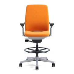 Orange Office Chair Best For After Back Surgery Steelcase Chairs Shop Human Solution The Amia Drafting S Livelumbar Technology Supports Lower By Flexing With Your Movements
