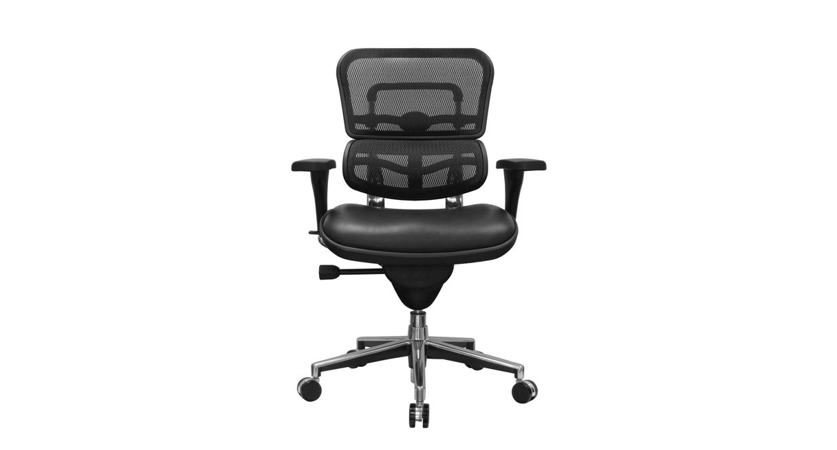 raynor ergohuman chair rolling stool mesh with leather seat lem6erglo the s pneumatic height adjustments raise and lower to your ideal sitting