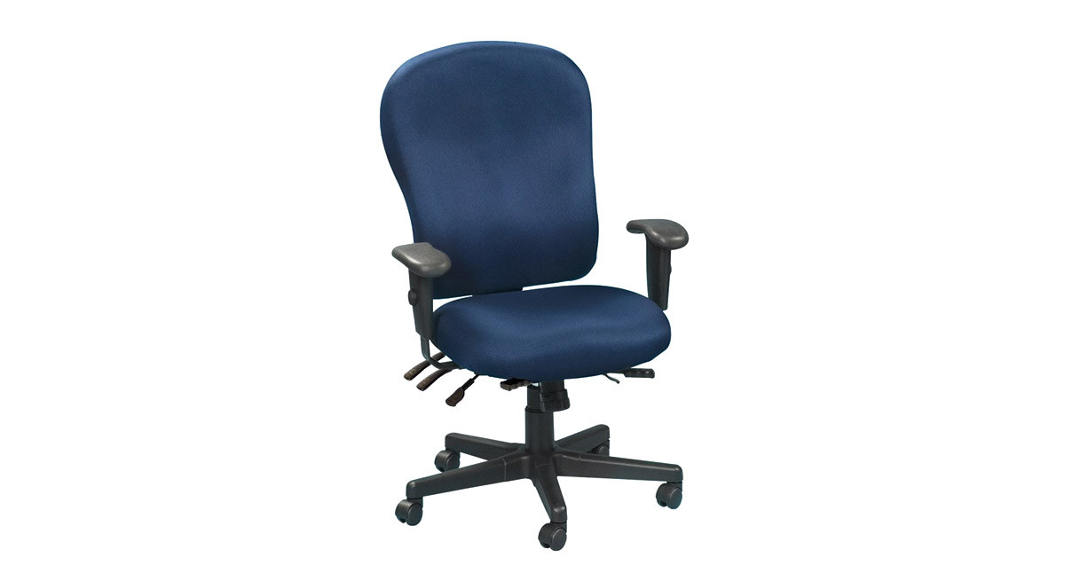 xl desk chair patio cushions kmart eurotech 4x4 task fm4080 waterfall seat alleviates pressure behind the knees improving blood flow