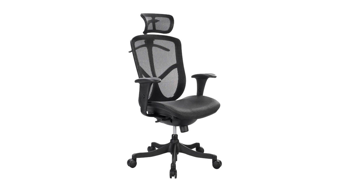 ergonomic chair description how to reupholster rocking cushions eurotech fuzion fuz6b hi high back mesh synchro tilt with lock so you can your seat in a position that