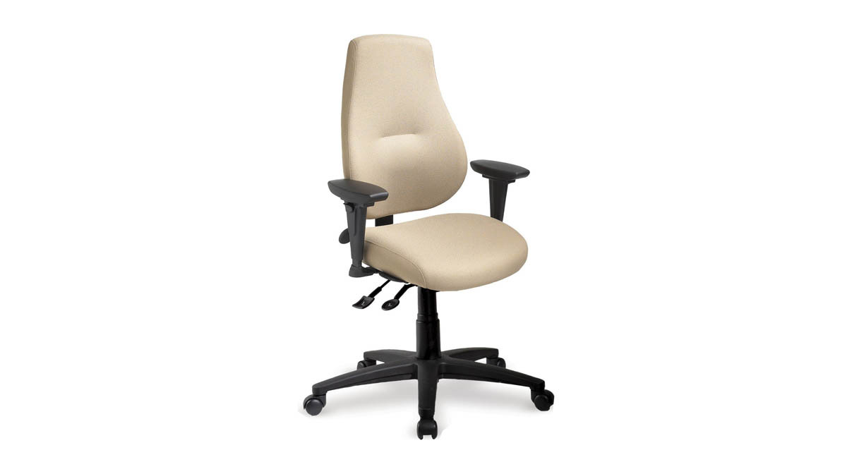 ergonomic chair comfortable swivel office upholstered shop ergocentric mycentric thick exceptional foam on seat and back