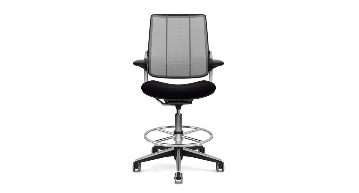 diffrient smart chair office headrest attachment india shop humanscale drafting seat cushion is contoured to reduce pressure points