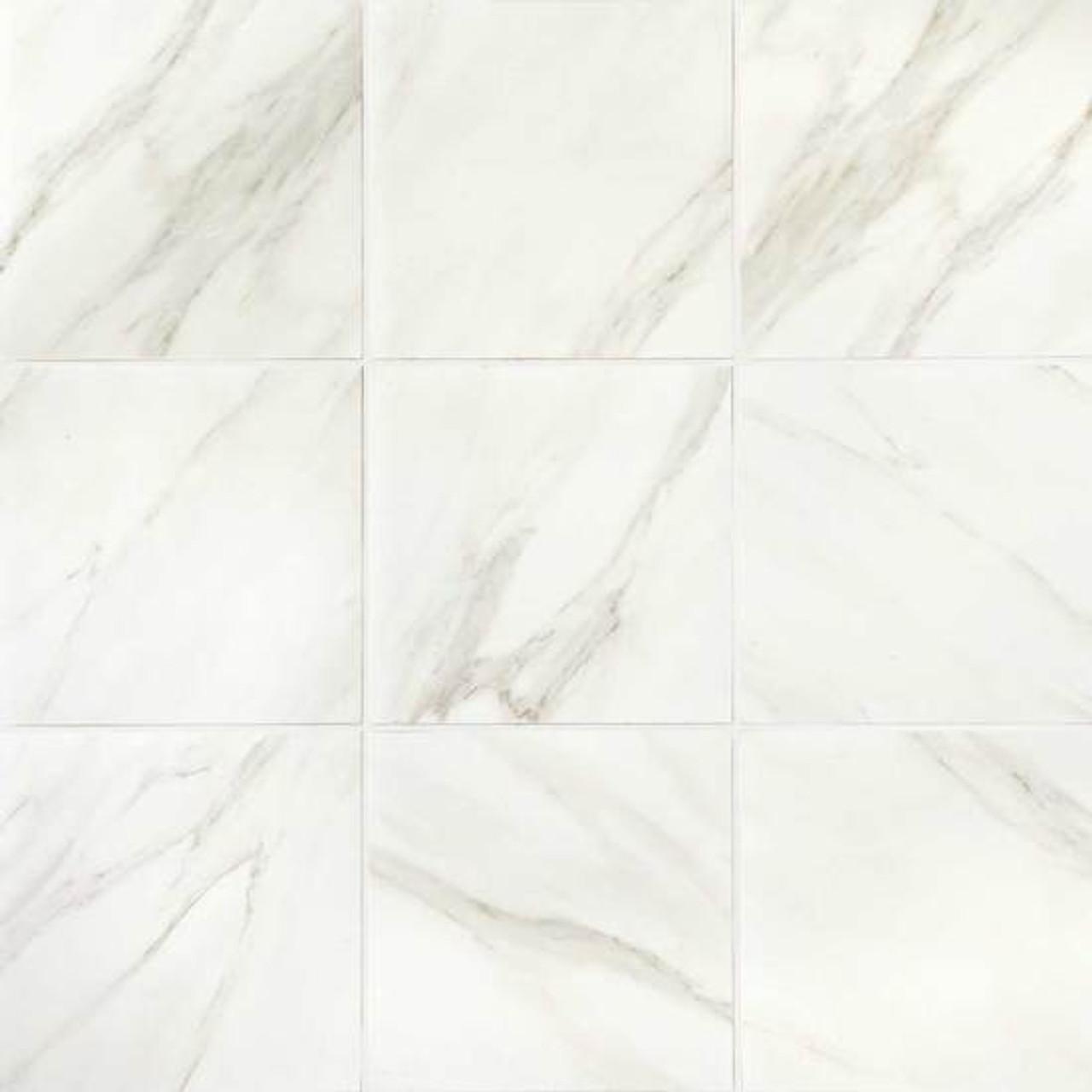 mirasol bianco carrara matte porcelain floor tile 24x24