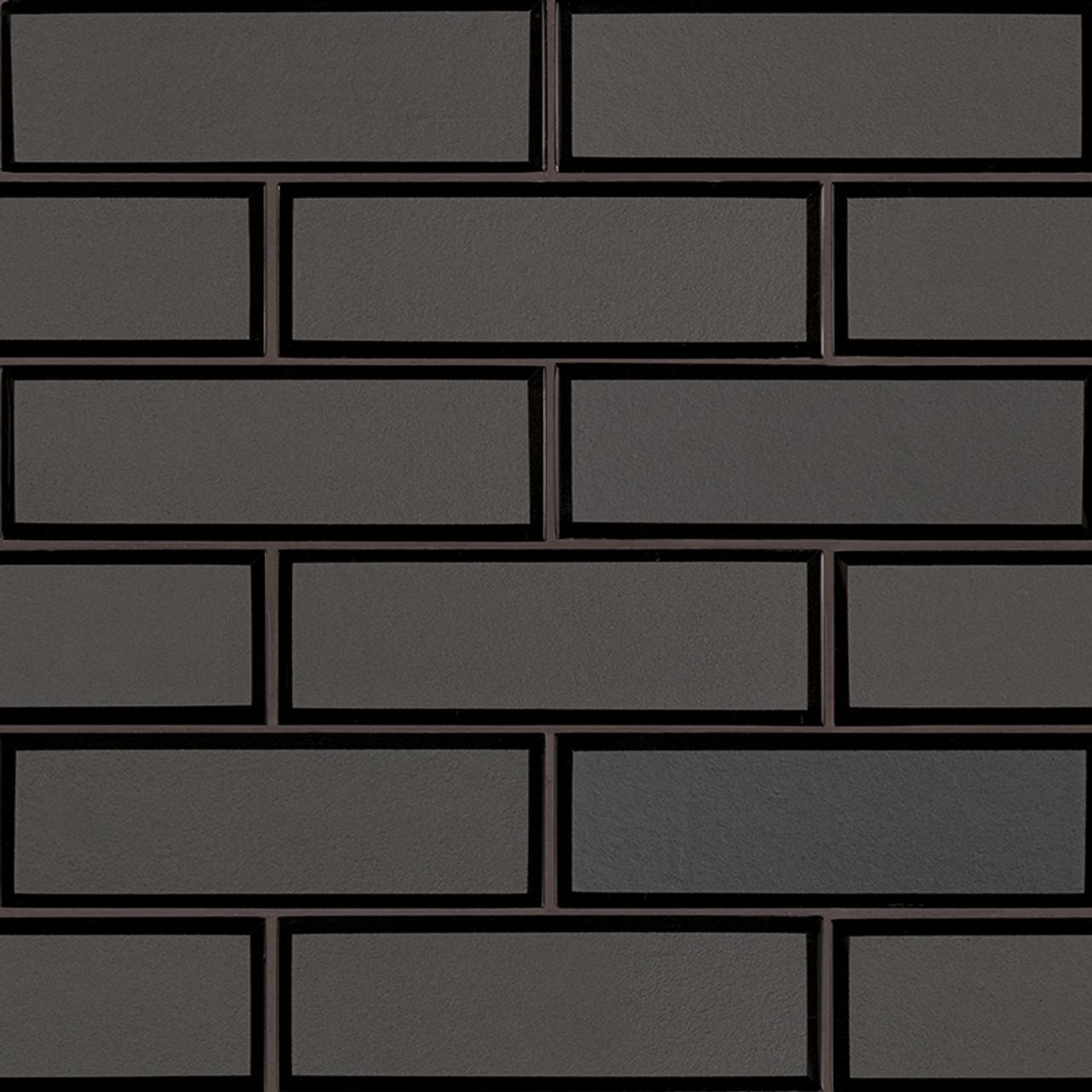 metallic gray bevel subway tile 2x6 mosaic
