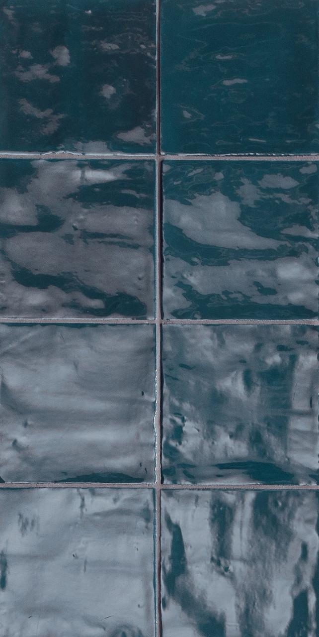 tsquare royal blue glossy ceramic 6x6 wall tile