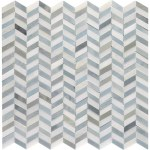 Candora White And Blue Blend Polished Marble Mini Chevron Mosaic Tiles Direct Store