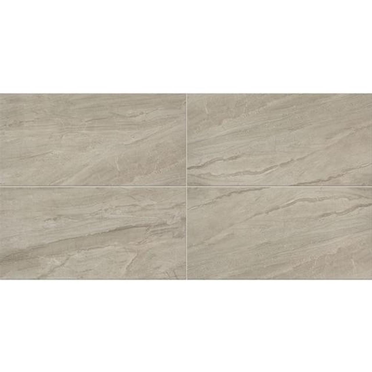 impresa light gray ceramic floor tile 12x24